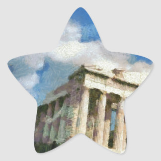 Wonderful Acropolis in Athens Star Sticker