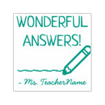 "[ Thumbnail: ""Wonderful Answers!"" Tutor Feedback Rubber Stamp ]"