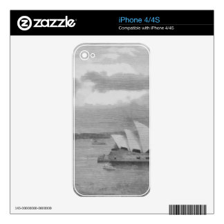Wonderful architecture of Sydney Opera House Skins For iPhone 4S