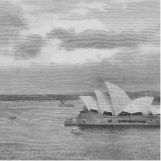 Wonderful architecture of Sydney Opera House Statuette
