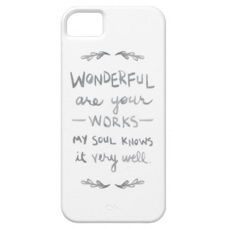 Wonderful are Your Works (barelythere phone cover) iPhone SE/5/5s Case