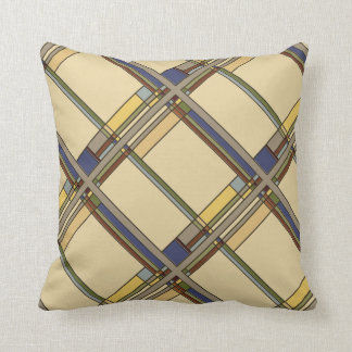 Wonderful Arts & Crafts Geometric Patterns in Fall Throw Pillow