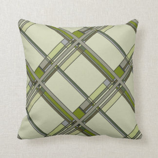 Wonderful Arts & Crafts Geometric Patterns in Tran Throw Pillow