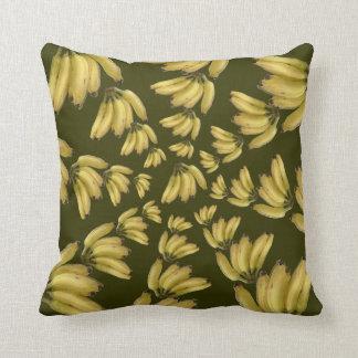 wonderful bananas circular pattern pillow