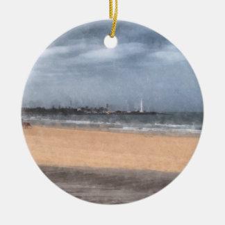 Wonderful beach ceramic ornament