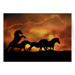 Horse lovers birthday cards greeting photo cards zazzle wonderful birthday card with horses bookmarktalkfo Images