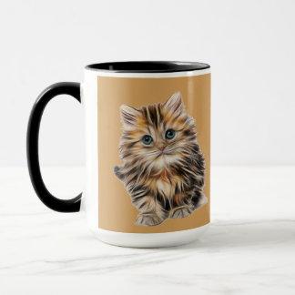Wonderful Black 15 oz Combo Mug In Kitten Design