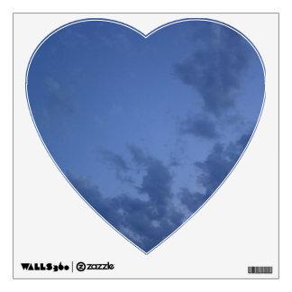 Wonderful blue evening sky room graphics