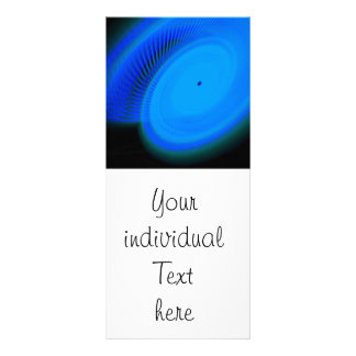wonderful blue neon light personalized rack card