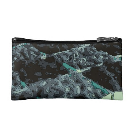 Wonderful Blueberry Foods and Deserts Makeup Bags