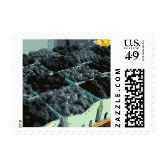 Wonderful Blueberry Foods and Deserts Postage