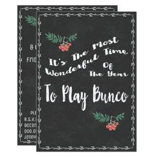 Wonderful Bunco Christmss Theme Card