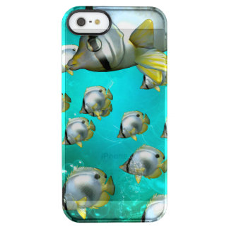 Wonderful butterflyfish clear iPhone SE/5/5s case