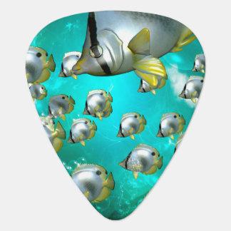 Wonderful butterflyfish guitar pick