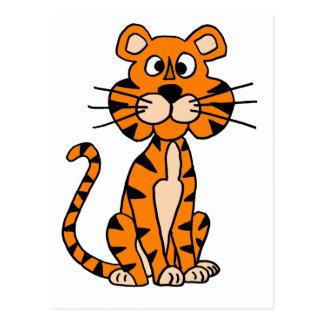 Wonderful Cartoon Tiger Design Postcard