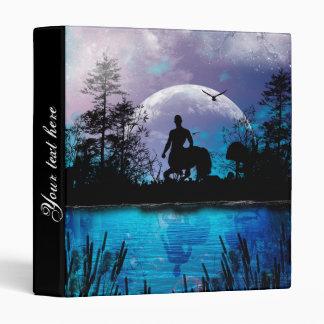 Wonderful centaur silhouette 3 ring binder