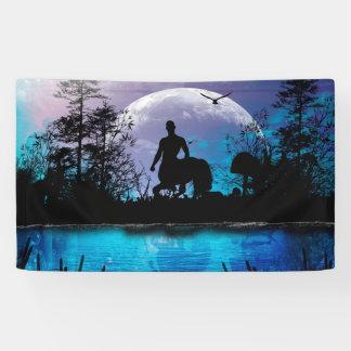Wonderful centaur silhouette banner