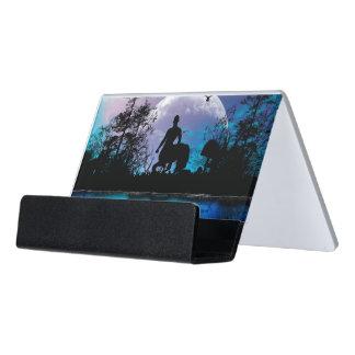 Wonderful centaur silhouette desk business card holder