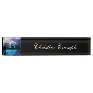 Wonderful centaur silhouette desk name plate