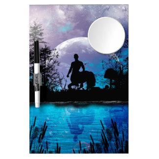 Wonderful centaur silhouette dry erase board with mirror