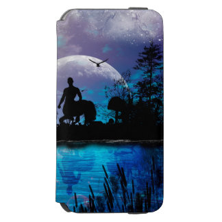 Wonderful centaur silhouette iPhone 6/6s wallet case