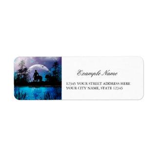 Wonderful centaur silhouette label