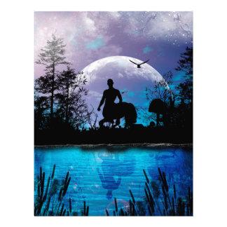 Wonderful centaur silhouette letterhead
