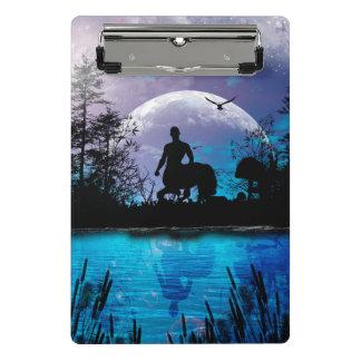 Wonderful centaur silhouette mini clipboard