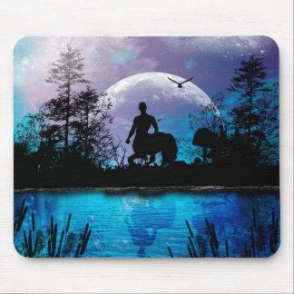 Wonderful centaur silhouette mouse pad
