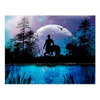 Wonderful centaur silhouette postcard