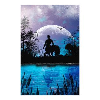 Wonderful centaur silhouette stationery