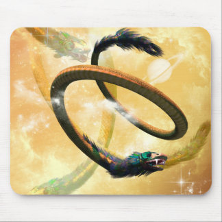 wonderful chinese dragon in the universe mouse pad