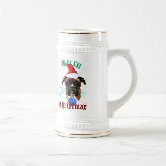 Wonderful-Christmas Boxer Dog Mugs
