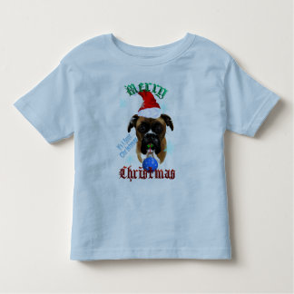 Wonderful-Christmas Boxer Dog Toddler T-shirt