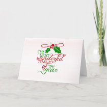 Wonderful Christmas Holiday Greeting Card