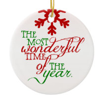 Wonderful Christmas Holiday Personalized Ornament