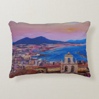 Wonderful City View of Naples Italy Accent Pillow