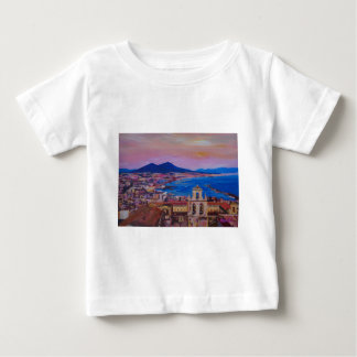 Wonderful City View of Naples with Mount Vesuv Baby T-Shirt