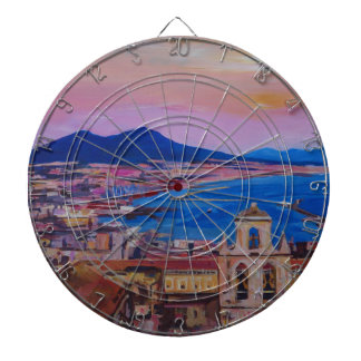 Wonderful City View of Naples with Mount Vesuv Dart Board
