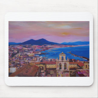 Wonderful City View of Naples with Mount Vesuv Mouse Pad