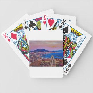 Wonderful City View of Naples with Mount Vesuv Bicycle Playing Cards
