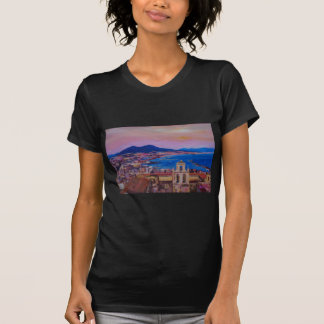 Wonderful City View of Naples with Mount Vesuv T-Shirt
