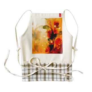Wonderful  colorful leaves zazzle HEART apron