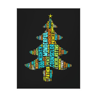 Wonderful Counselor Mighty God Prince of Peace Canvas Print