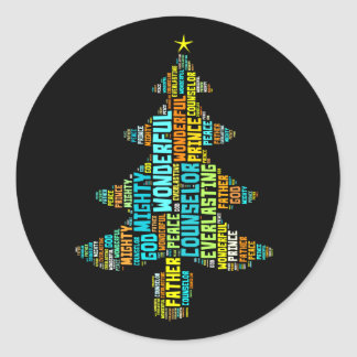 Wonderful Counselor Mighty God Prince of Peace Classic Round Sticker