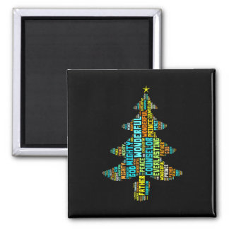 Wonderful Counselor Mighty God Prince of Peace 2 Inch Square Magnet