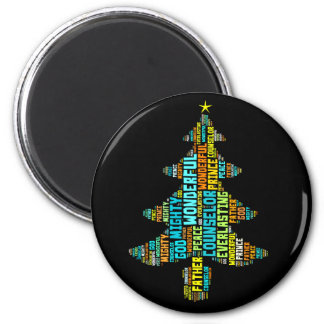 Wonderful Counselor Mighty God Prince of Peace 2 Inch Round Magnet