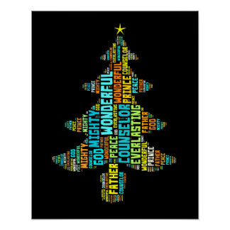Wonderful Counselor Mighty God Prince of Peace Poster