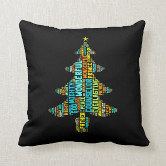 Wonderful Counselor Mighty God Prince of Peace Throw Pillow
