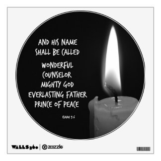 Wonderful Counselor Prince of Peace Scripture Room Decal